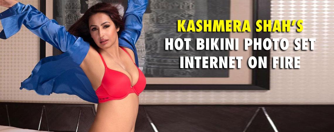 KASHMERA SHAHS HOT BIKINI PHOTO SET INTERNET ON FIRE