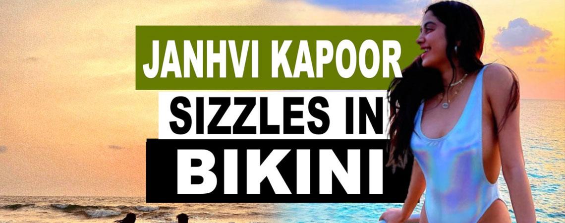 Janhvi Kapoor sizzles in sexy bikini